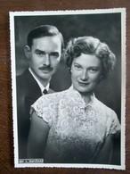 Oude Foto  Groothertogin Charlotte  Van Luxemburg   - Prins Felix Van Bourbon - Parma  Luxembourg - Familles Royales