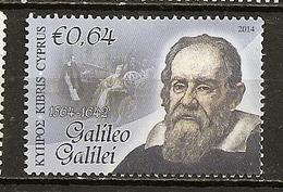 Chypre Cyprus 2014 Galileo Galilei Obl - Cyprus (Republic)