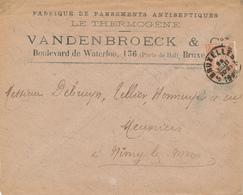 303/28 - BELGIQUE Santé - Entete Pansements Antiseptiques LE THERMOGENE S/Enveloppe TP Fine Barbe BRUXELLES 1899 - Pharmacy