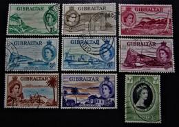 B2909 - Gibraltar - 1953 - Mich. - 133-135-138-139a-140a-141-143 - Gibraltar