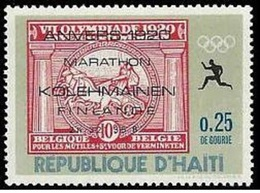 HAITI - 1969 - 1v MNH** - Olympic Marathon Winners - Kolehmainen Finland - Anvers 1920 - Olympics Maratón Maratona - Zomer 1920: Antwerpen