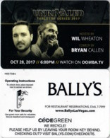 Bally's UnriValed   Las Vegas ---2279     Hotel Room Keycard, Room Keys, Hotelkarte, Clef De Hotel - 2279 - Cartes D'hotel