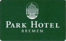 Park-Hotel-Bremen--1700   Hotel Room Keycard, Room Keys, Hotelkarte, Clef De Hotel - 1700 - Cartes D'hotel
