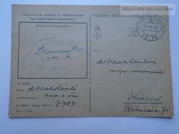 ZA165.27  Hungary  WWII  - Dr. Szepes László  - Kispest -  TP  B-787  Tábori Postai Levelezőlap  -Ellenőrizve 1943 - Covers & Documents