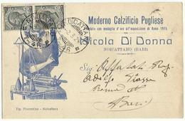 CP0013-CARTOLINA PUBBLICITARIA CALZIFICIO PUGLIESE NICOLA DI DONNA NOICATTARO BARI - 1900-44 Victor Emmanuel III
