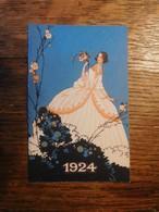 Calendrier 1924 Illustration Femme Art Déco - Petit Format : 1921-40