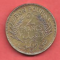 2 Francs , TUNISIE , Alu-Bronze , 1941 , N° KM # 248 - Colonias