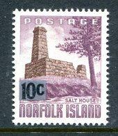 Norfolk Island 1966 Decimal Currency Definitives - 10c On 10d Salt House MNH (SG 65) - Norfolk Island