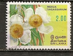 Sri Lanka 19-- Fleur Flower Obl - Sri Lanka (Ceylon) (1948-...)