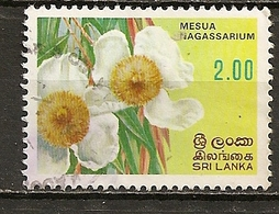 Sri Lanka 19-- Fleur Flower Obl - Sri Lanka (Ceylan) (1948-...)
