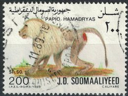 Somalie 1989 Oblitéré Used Animal Primate Papio Hamadryas Babouin Singe - Somalie (1960-...)