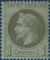 Napoléon III 1862 N°25**  1c Vert Bronze Fraicheur Postale !! - 1863-1870 Napoléon III Lauré