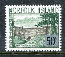 Norfolk Island 1966 Decimal Currency Definitives - 50c On 5/- Bloody Bridge LHM (SG 70) - Norfolk Island