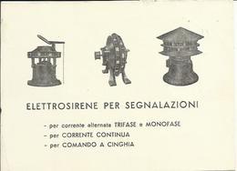 CP208-CARTOLINA PUBBLICITARIA ELETTROSIRENE ALESSANDRO MALISARDI MILANO - 6. 1946-.. Repubblica