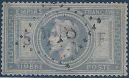 France Napoléon Lauré N°33a Gris Bleu Oblitération GC 844 Superbe Aspect Mais Replaqué...cote Yvert : 1250 € !! - 1863-1870 Napoléon III Lauré