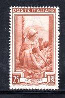 XP2777 - REPUBBLICA 1950 LAVORO Ruota  , 25 Lire N. 643  Nuovo ***  Ruota 3 SA - Varietà E Curiosità