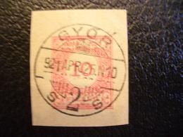 Hungary, 1921, Hungarian Royal Post, Postal Stamps Győr - Hungary