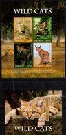 LIBERIA, 2018, MNH,FELINES, WILD CATS, SHEETLET +S/SHEET , HIGH FV - Felini