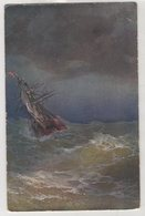 5413 Painter Aivazovsky (Ayvazian) Storm On The Black Sea - Pittura & Quadri