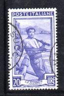 XP2787 - REPUBBLICA 1950 LAVORO Ruota  , 20 Lire N. 642  Usato  Ruota 3 SB - Varietà E Curiosità