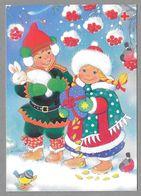 Postal Stationery Red Cross Finland (SPR 33) - Children Bunny Bullfinches Illustr. Salli Parikka-Kuuva - Used 1996 - Finlande