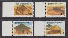 Bophuthatswana 1989 Traditional Houses 4v ** Mnh (41695B) - Bophuthatswana