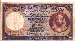 EGYPT  P. 22b 1 P 1935 F/VF - Egypte