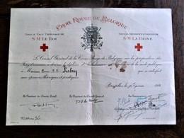 Oud Diploma  Croix Rouge De Bel Gique  Henri  FABRY  1953 - Croix-Rouge