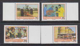 Bophuthatswana 1986 Agriculture, Training, Development, Industries 4v ** Mnh (41695C) - Bophuthatswana