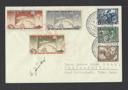 ALLEMAGNE EMPIRE (III Reich)  Lettre  Avec Vignette  1934 - Briefe U. Dokumente