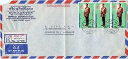 (e1040) Einschr. Brief Thailand St. Bangkok N. München - Thaïlande