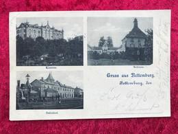 Luxembourg Gruss Aus Bettemburg  Kloster , Schloss , Bahnhof . ( Ecke Oben Links Geknickt ) - Bettembourg