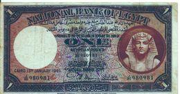 EGYPT  P. 22c 1 P 1945 F/VF - Egypte
