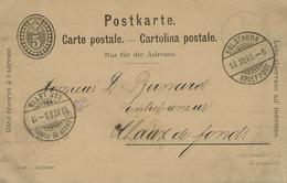 1900- C P E P 5 C De Solothurn Avec Repiquage Schmid,Bregger & Cie - 1882-1906 Armoiries, Helvetia Debout & UPU