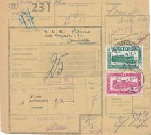 310/28 - TRANSPORT MIXTE VICINAL Et CHEMIN DE FER - Formule Colis POIX ST HUBERT 1951 Vers BXL  + Manuscrit VICINAL - 1942-1951