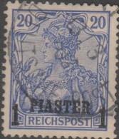 Germania Turchia 1900 1PIA/20Pf MiN°14/I (o) - Bureau: Turquie