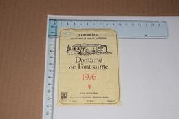 Corbières Domaine De Fontsainte 1976 Yves Laboucarie Boutenac 70 Cl - Etiquettes