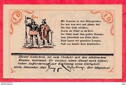 Allemagne 1 Notgeld 10 Pfenning  Melle (RARE) UNC Lot N °3165 - [ 3] 1918-1933 : République De Weimar
