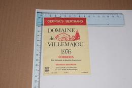 Corbières Domaine De Villemajou 1976 Georges Bertrand 70 Cl - Etiquettes