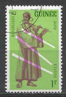 Guinea 1962. Scott #238 (U) Musical Instrument, Flute * - Guinée (1958-...)