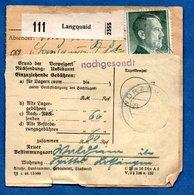 Colis Postal  - Départ Langquaid  - - Germania