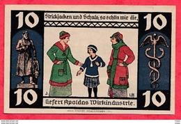 Allemagne 1 Notgeld  10 Pfenning Apolda  (RARE) UNC  Lot N °3166 - [ 3] 1918-1933 : République De Weimar