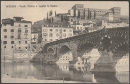 Ponte Pietra E Castel S. Pietro, Verona, C.1920 - Zampieri Cartolina - Verona