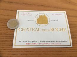 Etiquette Vin «CHÂTEAU DE LA ROCHE - ROBIN MORGAT - SCE CHATEAUX BREUIL ET ROCHE - BEAULIEU-SUR-LAYON (49)» - Blancs