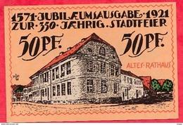 Allemagne 1 Notgeld  50 Pfenning Angerburg  (RARE) UNC   Lot N °3167 - [ 3] 1918-1933 : République De Weimar