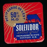 """Etiquette Fromage Petit Carré De L'est Soleildorfromagerie P L'hote Nonhigny Meurthe Et Moselle""""vache"""" 50%mg - Fromage"""