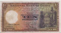 EGYPT  P. 23b 10 P 1945 VF - Egypte