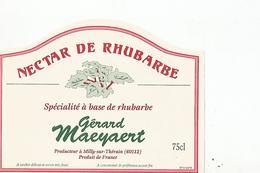Etiquette Nectar De Rhubarbe - Etiquettes