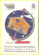 """Tematica - Fumetti - 1996 - Oscar Sacchi - Disegnatore - Personale """"Sono Nato Con L'Aureola"""" - Carpi - Not Used - Eventi"""