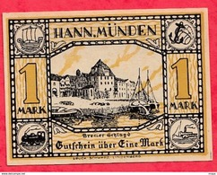 Allemagne 1 Notgeld  1 Mark  Hannmünden  état   Lot N °3171 - Collections
